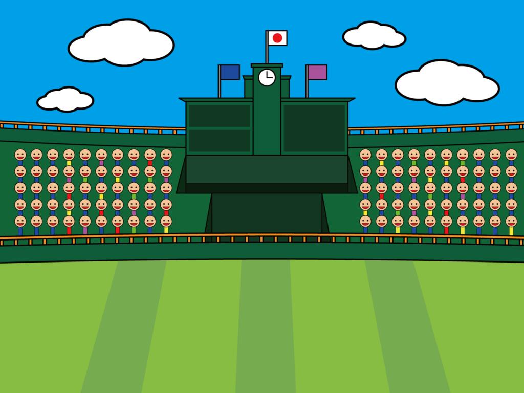 日本の野球場