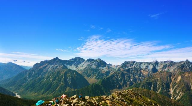 北アルプス登山絶景