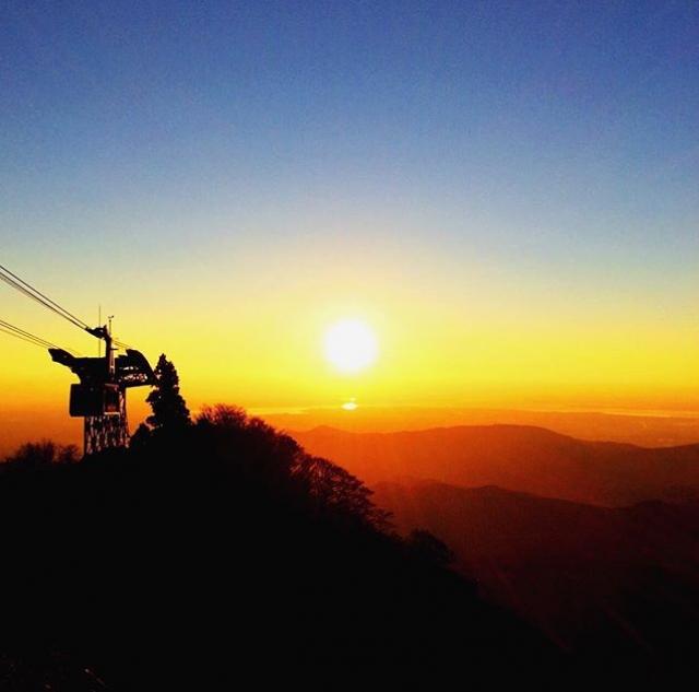 初日の出 六甲山