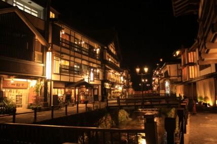 銀山温泉の夜景
